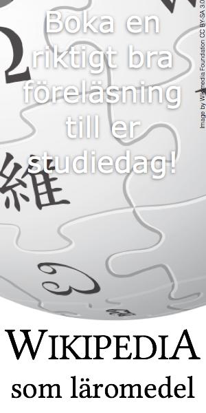 Wikipedia som läromedel ← Boka en riktigt bra föreläsning till er studiedag!